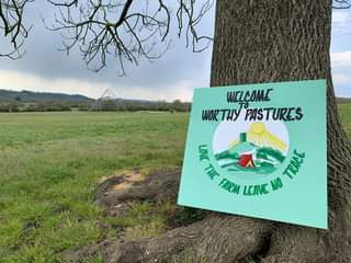 """May be an image of tree, outdoors and text that says """"WELCOME WOR THY PASTURES 言 THE A TRRE FARM LEAVE NO"""""""