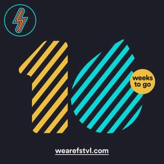 """May be an image of text that says """"ל weeks to go wearefstvl.com"""""""