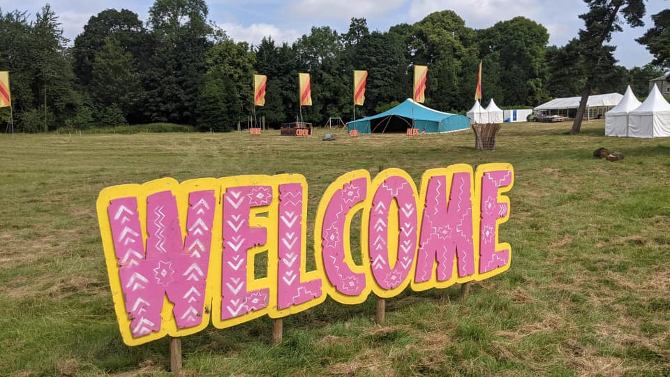 Live scenes from the site! Base Campers, we're busy getting Baldersby Park ready...