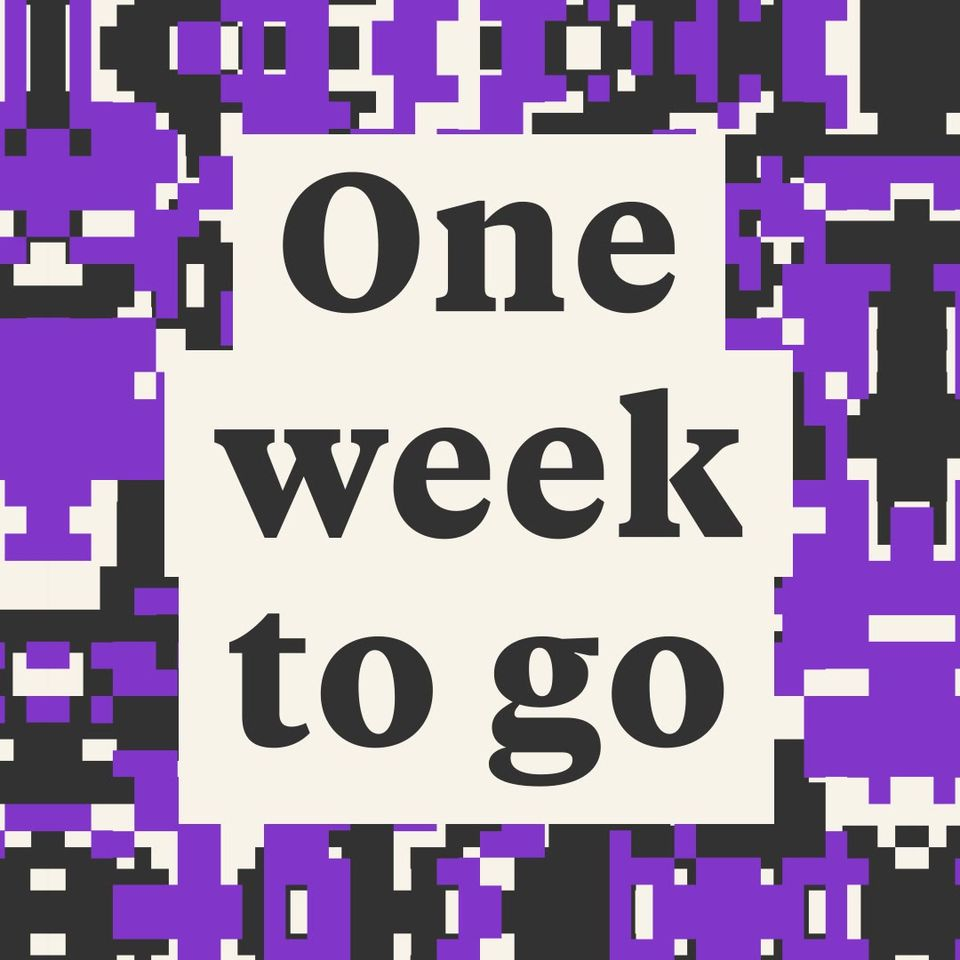One week countdown has started 29 August, Victoria Park...
