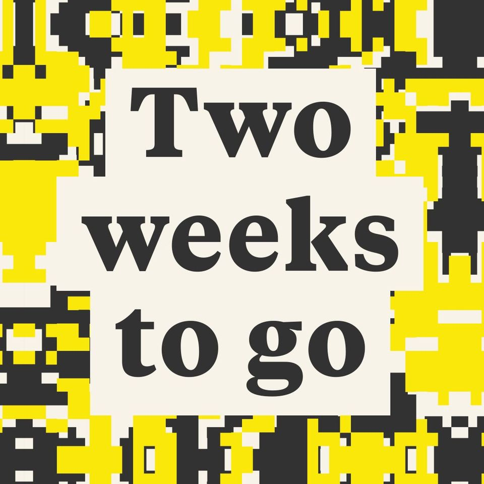 Only two weeks to go until we're all together at Victoria Park!   Final remainin...