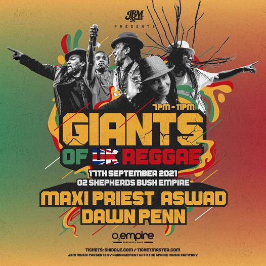 Just ONE MONTH to go until our next reggae fix with Giants Of UK Reggae at O2 Shepherds Bush featuri...