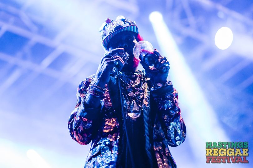 """RIP Lee """"Scratch"""" Perry  We are honoured to have had him perform at Hastings Reggae Festival in 2019..."""