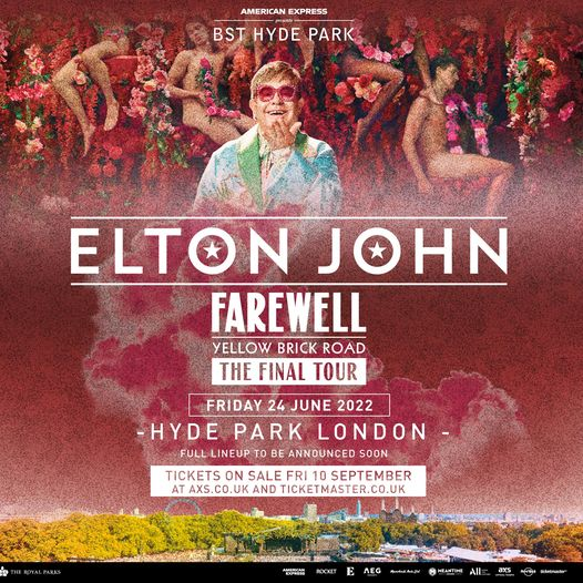 We're back with a MASSIVE headliner for 2022 - the incomparable Elton John!...