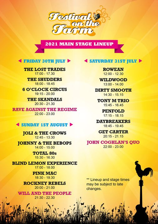 Our Main Stage lineup just gets bigger and better every year. 3 days of fantasti...