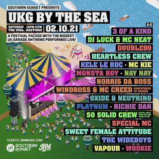 UKG By The Sea touches down in just TWO WEEKS!  Final tickets selling FAST >...