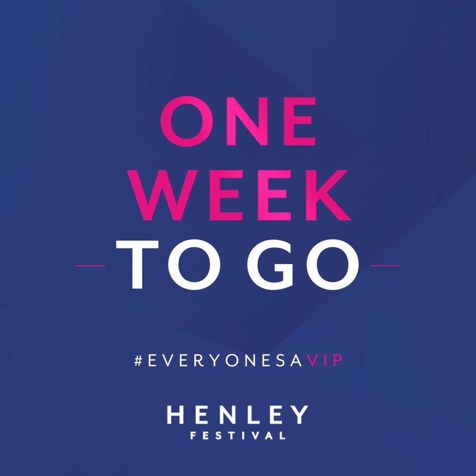We have reached the ONE WEEK COUNTDOWN Mark!...