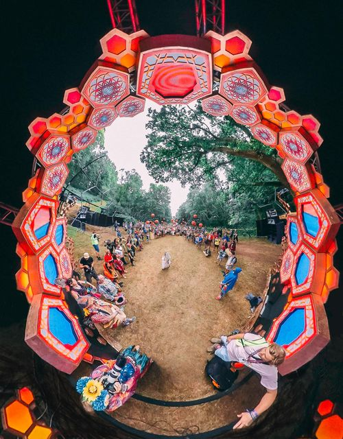 The opening ceremony at the Liquid Stage...  ⬢⬡⬢  Nick Caro #noisilyfestival #psytrance...