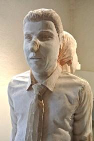 Sculpture Guy Lafond. Dos à dos. Exposition Hors les Normes 2016, Praz-sur-Arly. L'homme.