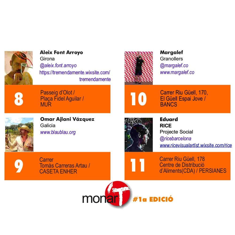 Aleix Font Arroyo, Omar Ajlani Vázquez, Margalef, Eduard (RICE) - Festival monar'T #1a EDICIÓ