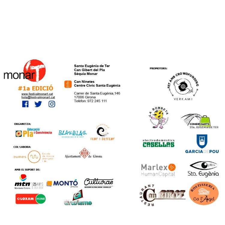 Patrocinadors de la 1a EDICIÓ del Festival monar'T