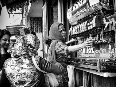 Soda Shop de rue, Port Louis, Ile Maurice, 2018