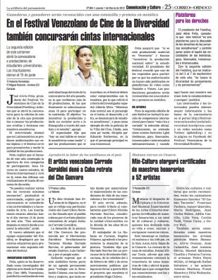 Correo del Orinoco (01/03/2012). Página 25.