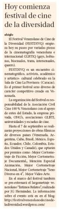 El Siglo (03/09/2012). Farándula C-24.