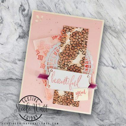 Stampin Up card made by Festive Friday Challenge designer Nicole Watt. #festivefridaychallenge #FF0007