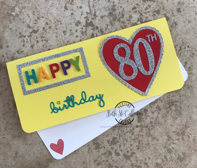 #FF0028, Festive Friday Challenge Designer- Beth McCullough, Stampin Up, Mardi Gras, Glimmer Paper