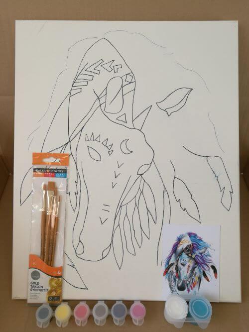 Varázs-ló otthoni élményfestő szett