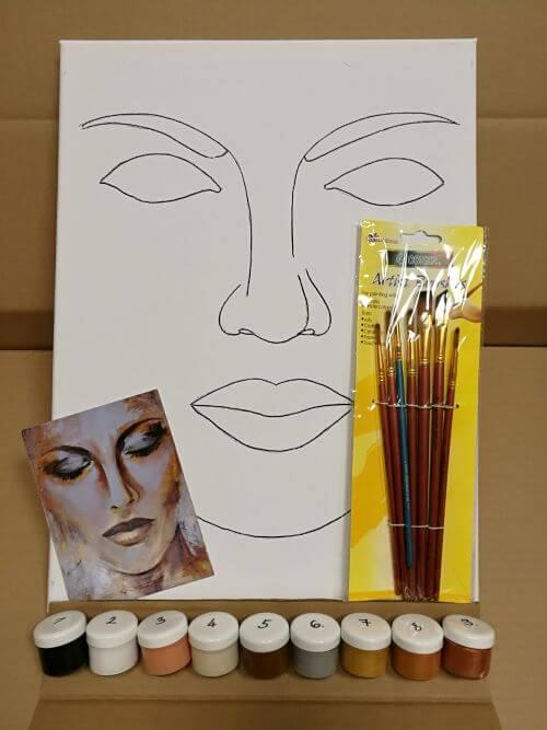 Golden face otthoni élményfestő szett