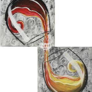 Vörös és fehér páros otthoni élményfestő szett
