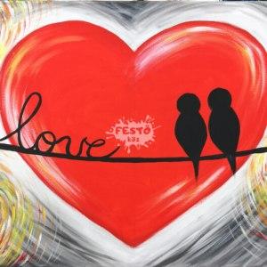 LOVE páros otthoni élményfestő szett