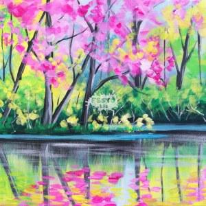 Tavaszi Erdő otthoni élményfestő szett