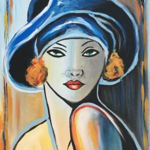 Art Deco portré otthoni élményfestő szett