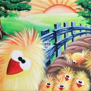 Baromfiudvar otthoni élményfestő szett gyerekeknek