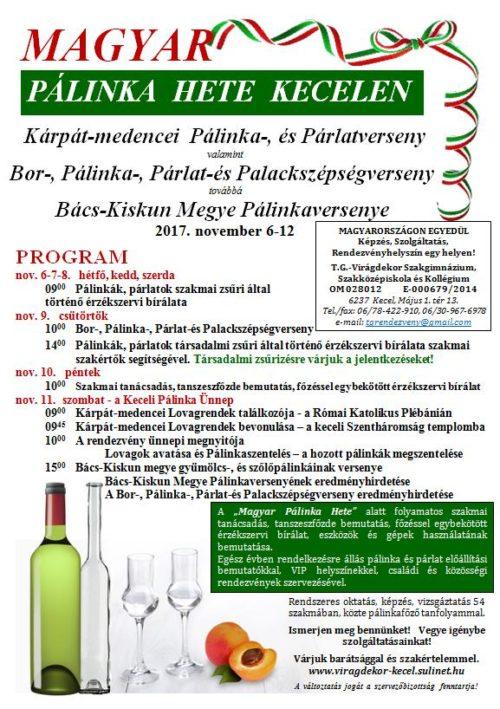 Magyar Palinka Hete Kecelen program