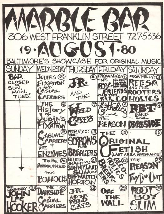 Bollocks poster at Marble Bar