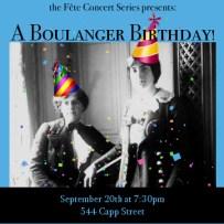 A Boulanger Birthday
