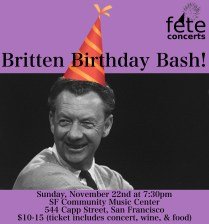 Britten Birthday Bash