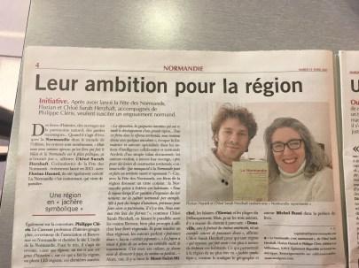 Article dans Paris Normandie, 11 avril 2017. Par Anthony Quindroit.