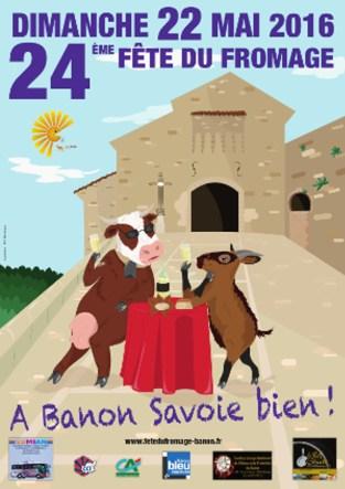Affiche de l'édition 2016 de la Fête du Fromage