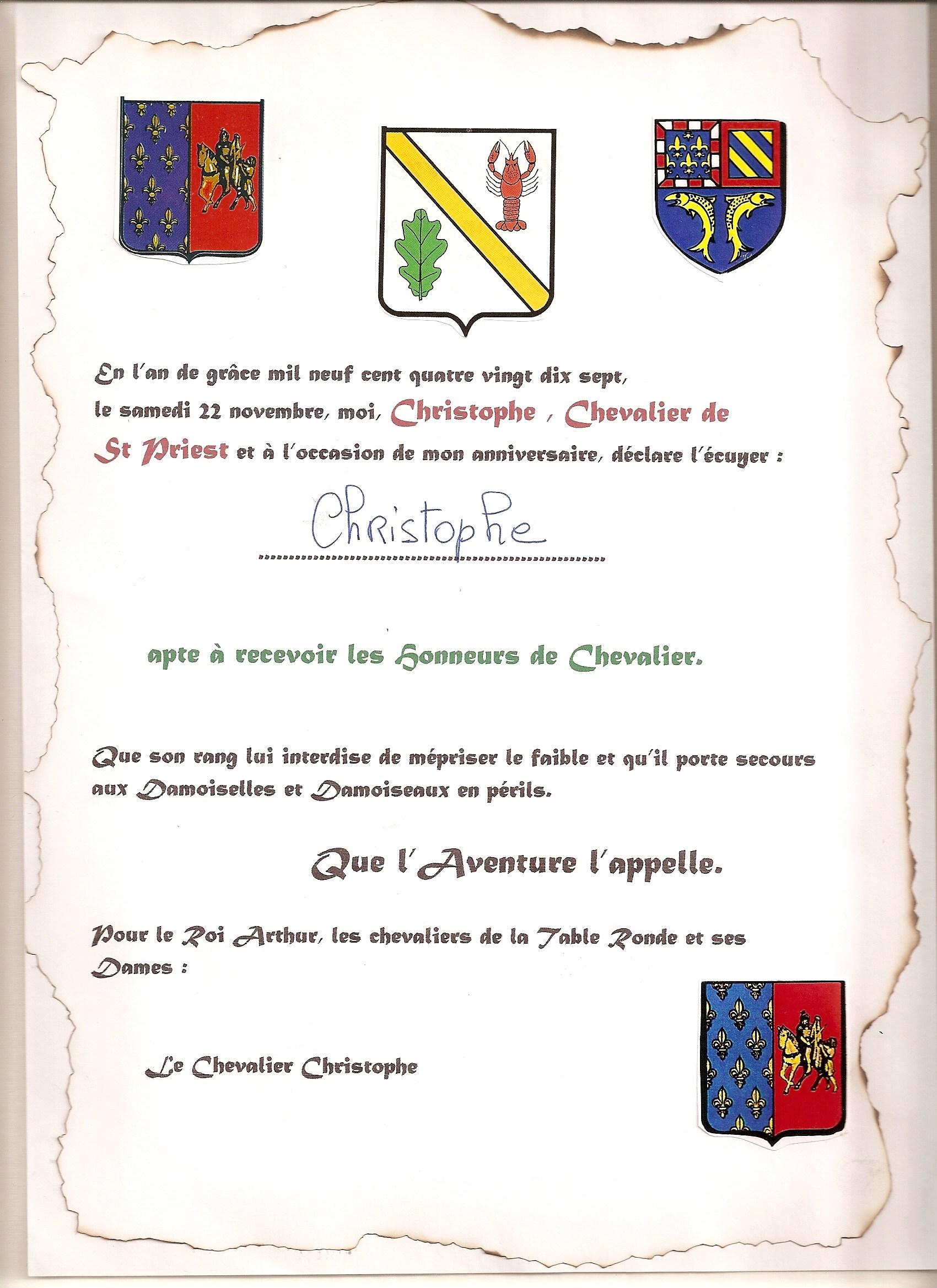 theme chevalier