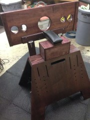 pillory and stock attachment for spanking bench