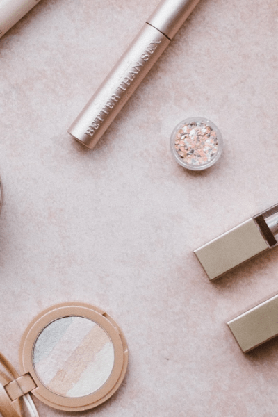 various beauty products on a table