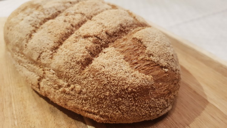Keto white bread with crispy crust
