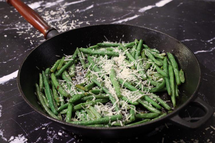 Lynstekte Aspargesbønner med parmesan!