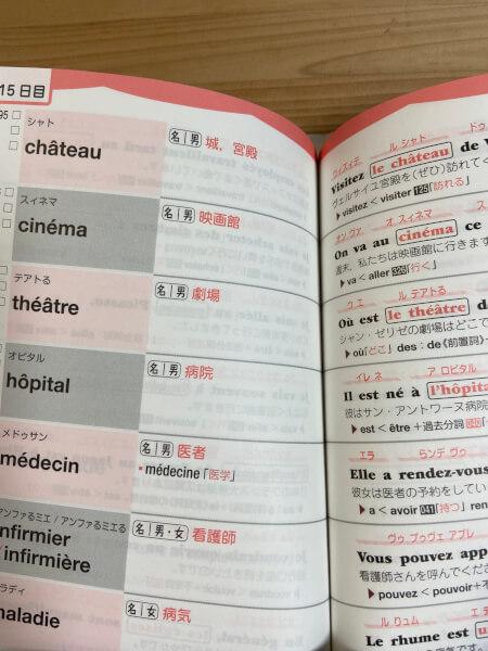 1ヶ月で復習するフランス語基本の500単語:15日目