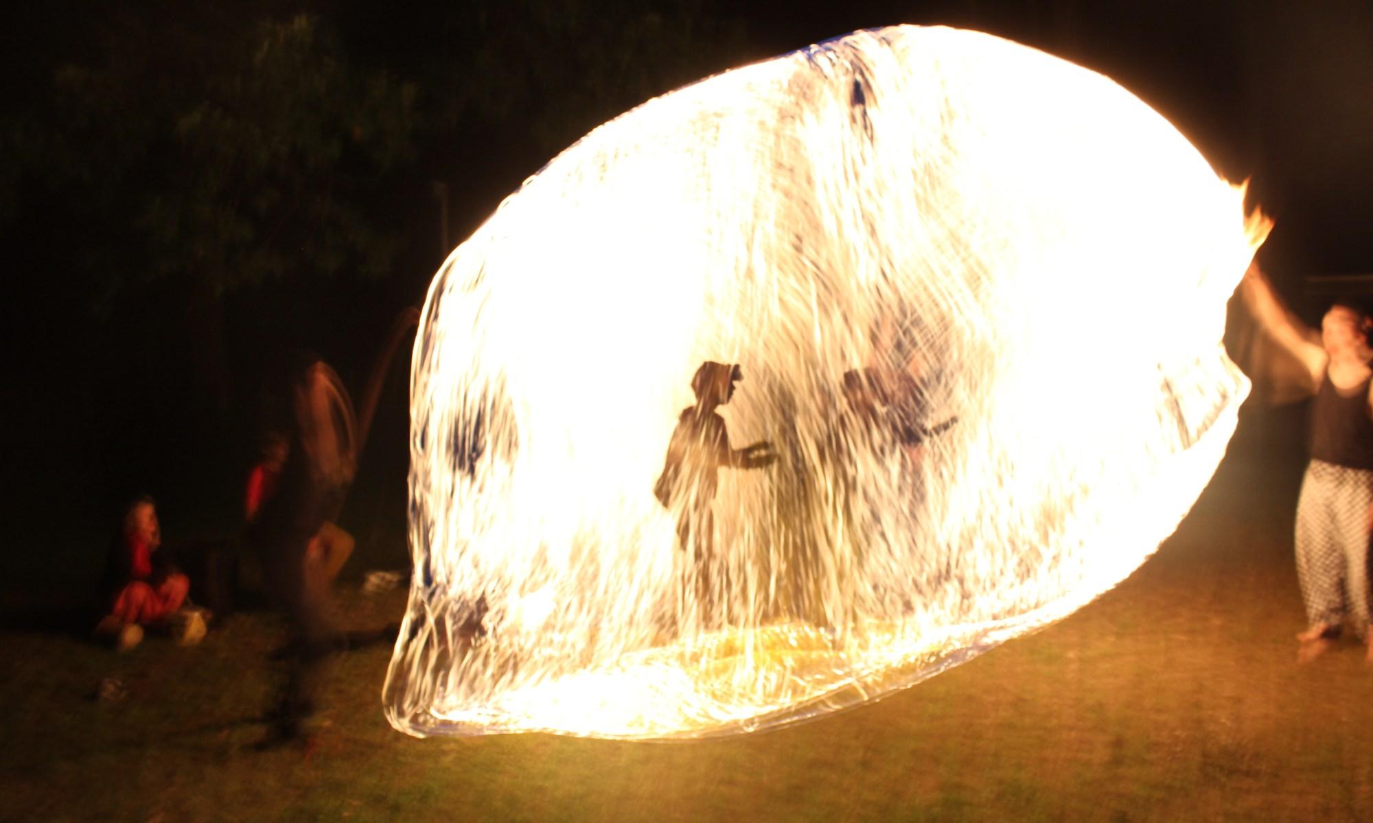 Feuersilhouette