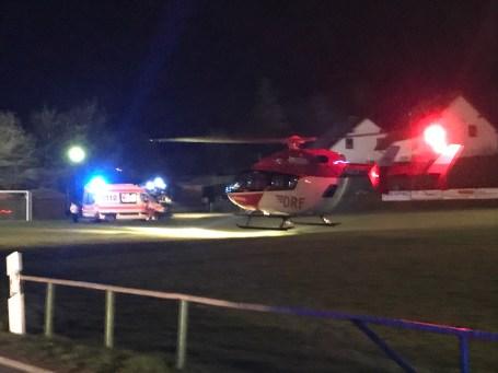 Hubschrauberlandung Helmsgrün