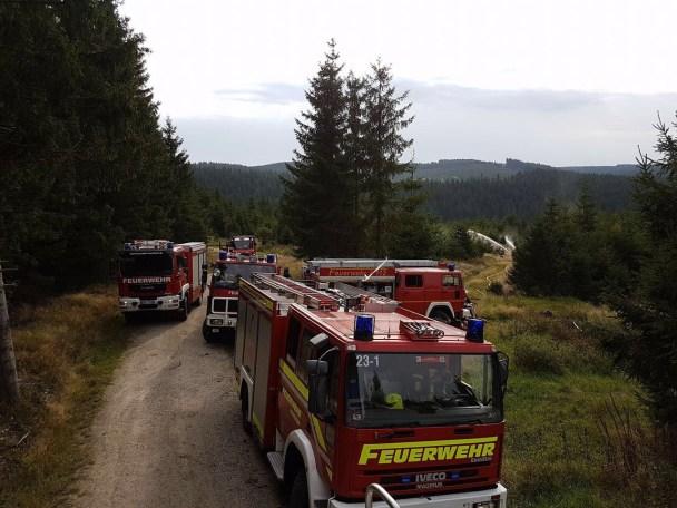 Waldbrand-Übung-Wurzbach