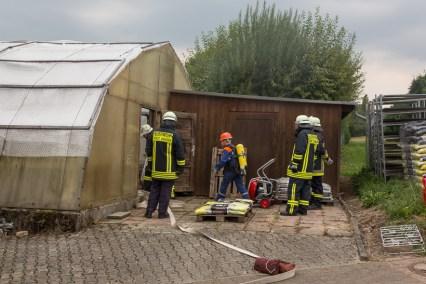 Gemeinsame Übung der Jugendfeuerwehr und der Einsatzabteilung.