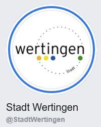 Link zur Facebook-Seite der Stadt Wertingen