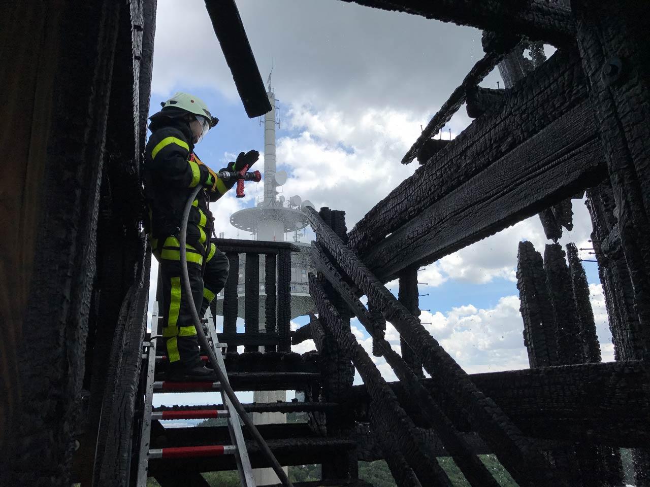 Atzelbergturm Feuerwehr Einsatz