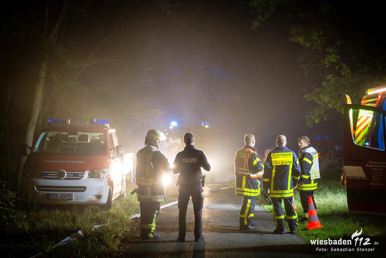 Feuerwehreinsatz am Atzelbergturm