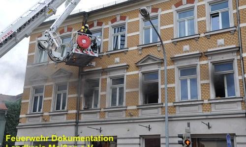 Coswig, Wohnungsbrand