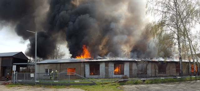 Großbrand in Radebeul