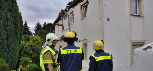 Explosion in Einfamilienhaus