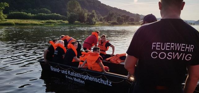 Bootsausbildung mit SEG Niederau und Wasserwacht Meißen
